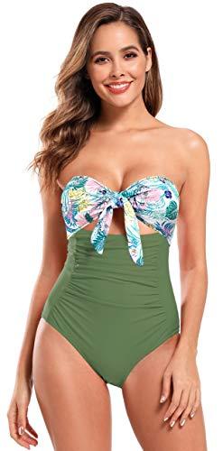 SHEKINI Dames Eendelige Vlinder Geknoopt Badpak Removable Adjustable shoulder strap Badpak Elegante Print Bikini Zwempak