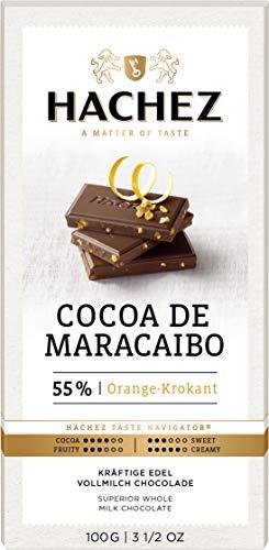 Hachez Cocoa de Maracaibo Orange Krokant Edel Vollmilch 100g