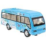 MagiDeal Juguete de Autobús Eléctrico de Simulación con Música Juego Educatico Cogntivo para Niños Pequeños a Escala 1/50 - Azul