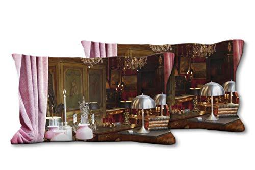 Glücksvilla Künstler-Foto-Kissen Set, (2 STK.) 80 x 40 cm, Premium Zierkissen Motiv: Wie in Alten...