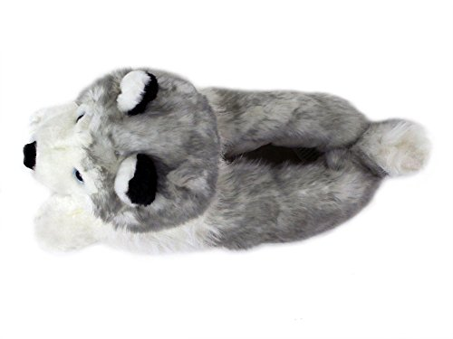 Husky Slippers – Plush Dog Animal Slippers