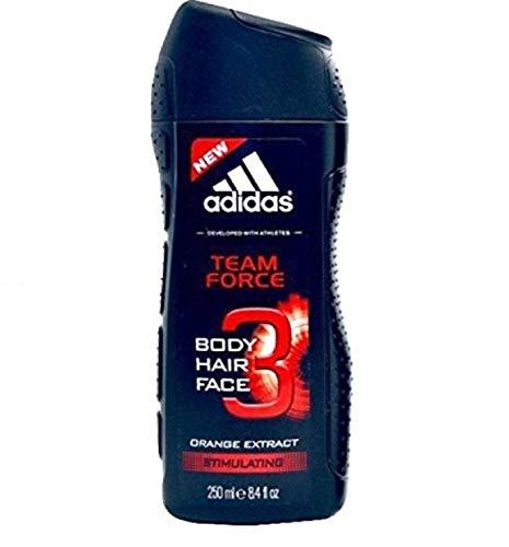 Adidas Men Duschgel 3in1 - Team Force - 6er Pack (6 x 250 ml)