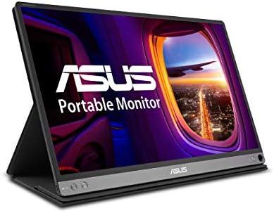 "Asus Zenscreen Go MB16AP 15.6"" Full HD Portable Monitor IPS Built-in Battery Eye Care USB Type-C W/Foldable Smart Case,Black"