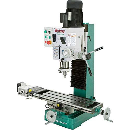 "Grizzly Industrial G0761-10"" x 32"" 2 HP HD Benchtop Mill/Drill with Power Feed and Tapping"