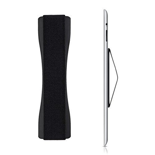 kwmobile Tablet Fingerhalter Griff Halter - Selbstklebende Tablet PC Fingerhalterung - Finger Halter kompatibel mit iPad Samsung Sony Tablets Schwarz