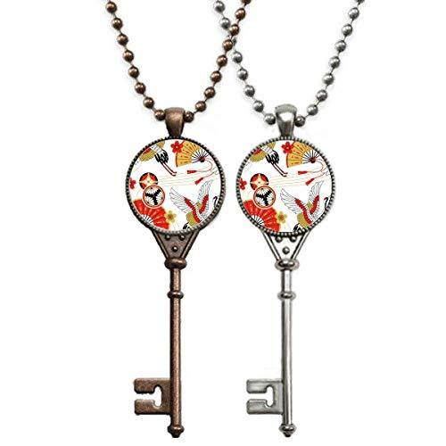Collar con colgante de grúa plegable con diseño de Sakura