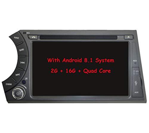 RoverOne Reproductor de DVD de coche con sistema Android de 7 pulgadas para Ssangyong ActYon Kyron 2006-2011 con Autoradio GPS de navegación Radio estéreo Bluetooth USB Espejo Link