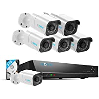 Reolink H.265 4K PoE Security Camera System, 6pcs 8MP Wired PoE IP Cameras, 8CH NVR Recorder with 2TB HDD