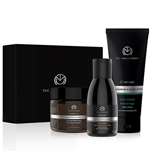 The Man Company Cleanse & Moisturise Pack(Charcoal Face Wash Charcoal Scrub Moisturising Cream) | Made in India