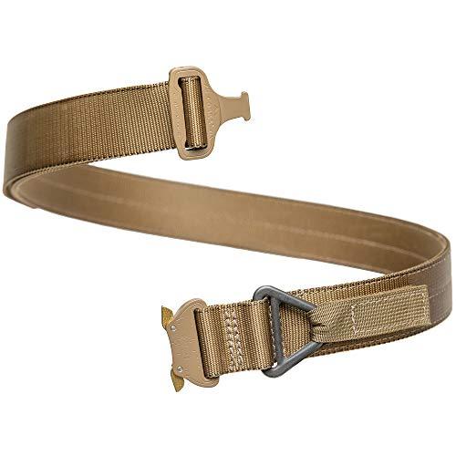 "BigFoot Gun Belts Nylon Tactical Belt - 1.75"" Wide - Medium - Coyote Side Release Buckle - Coyote - V-Ring"