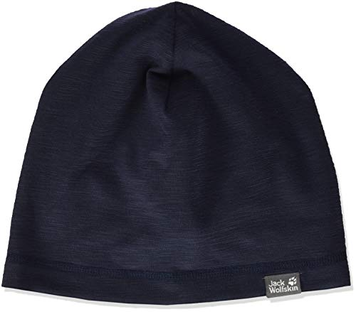 Jack Wolfskin Unisex-Kinder Travel Beanie Bonnet Strickmütze, (Night Blue), (Herstellergröße: Medium)