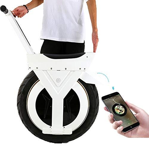 Mini selbstausgleichender elektrischer Klapproller Großer Einzelradroller für Erwachsene Bremse/somatosensorische Steuerung, 17 Zoll Schnellste Geschwindigkeit 20 km 500 W Motor, 90 km,30km