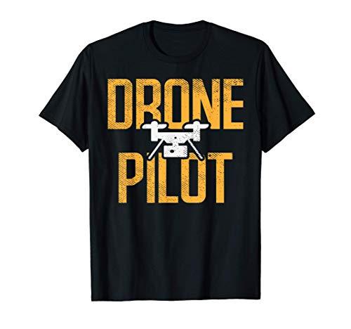 Drone Pilot Quadcopter FPV UAV RPV Flyer Operator Racer Gift Camiseta