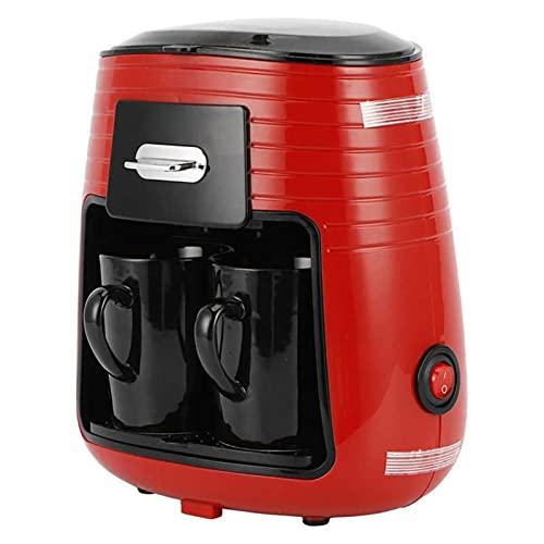 Volledige automatische koffiemachine met dubbele kop druip koffiezetapparaat thee maken draagbaar koffiezetapparaat…