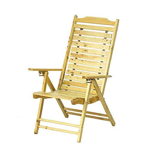YLCJ Opvouwbare ligstoel houten eettafel Kantoorbank Multifunctionele strandstoel Lounge stoel Patiostoel