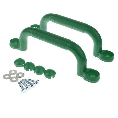 lahomia Child Climbing Frame Maniglie di Sicurezza Accessori per Altalene Giocattolo da Giardino - Verde nerastro - Verde nerastro