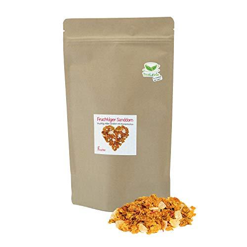 TEALAVIE - Fruchtiger Sanddorn (>60%) - Früchtetee lose 140g | fruchtig milder Sanddorntee | Nachfüllpack - nachhaltig & umweltfreundlich | 140g Refill loser Kräuter Tee