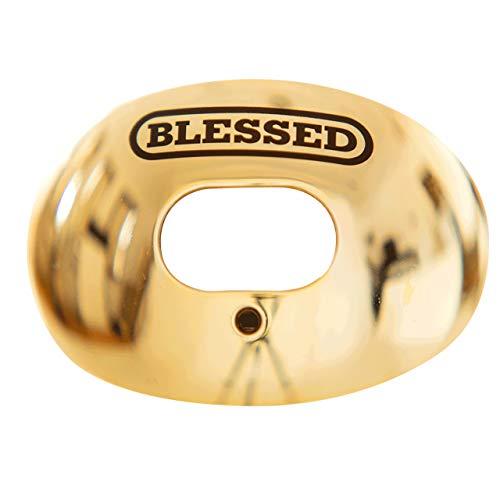 Battle Blessed Chrome Oxygen Football Mouthguard - Chrome Gold.