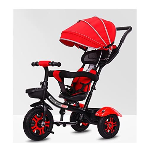 Yyqx sillas de Paseo Cochecito Triciclo 1-5 años de Edad Bicicleta bebé cochecitos Infantil Bicicleta niño Cochecito bebé Carro de bebé Coche (Color : Black and Red (Flagship Style))