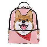 Laptop-Rucksack mit niedlichem Shiba Inu und His Smile, stilvoller Schulrucksack für...
