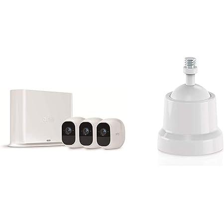 Arlo Pro2 Überwachungskamera Alarmanlage 1080p Hd 3er Set Smart Home Kabellos Halterung Geeignet Für Den Außenbereich Arlo Pro Kabellose Überwachungskamera 2 Stück Weiß Vma4000 Baumarkt
