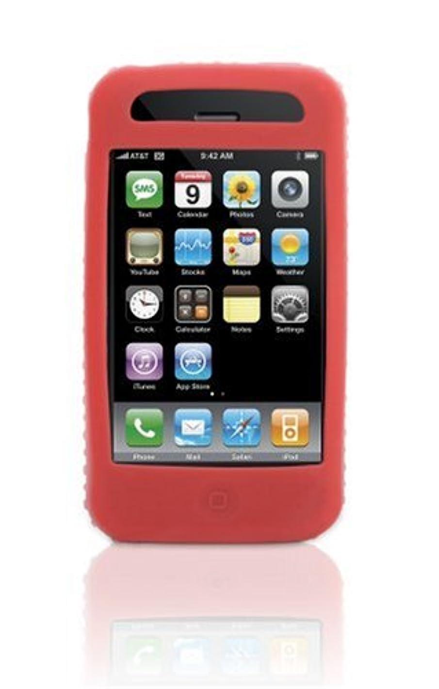 信号農業の届ける【国内正規品】 GRIFFIN iPhone3G用大小の突起を配置したグリップ感のあるシリコンケース FLEXGRIP-IP-RED