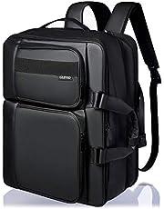 GLEVIO ビジネスリュック メンズ リュック バックパック 大容量 拡張機能付き ブラック 出張 PC 15.6インチ 3way