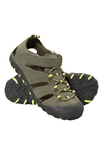 Mountain Warehouse Sandalias de Senderismo Coastal Niños - Sandalias de Neopreno Niños & Niñas, Zapatos de Verano, para la Playa, Caminar, fáciles de Poner Caqui 35