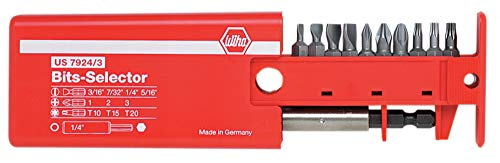 Wiha 79243 Slotted Phillips and Torx Bit Selector with Magnetic 1/4-Inch Bit Holder