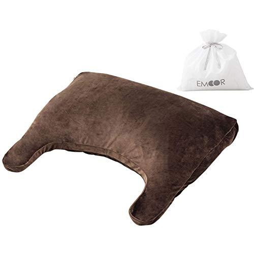 エムール枕まくらビーズクッションブラウン日本製安眠快眠洗えるストレートネックマシュマロアッパーピローラッピング対応ギフトプレゼント父の日
