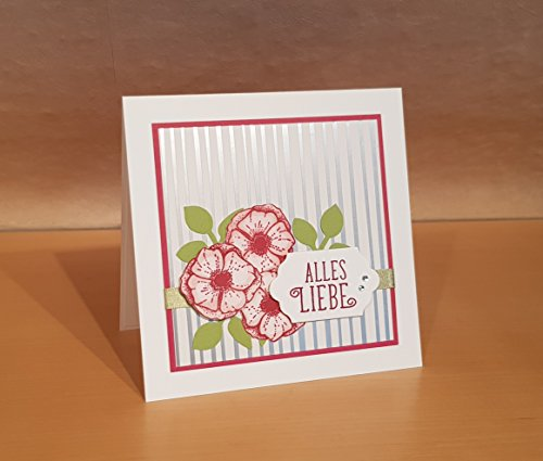 Geburtstagskarte, Glückwunschkarte, liebe Wünsche, Handarbeit