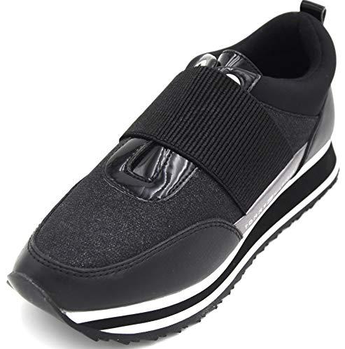 Tommy Hilfiger Zapatillas deportivas para mujer, modelo slip, estilo informal, art. FW0FW03336, Color negro., 41 EU