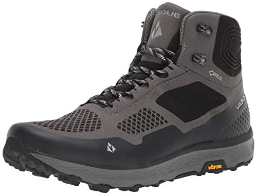 Vasque Men's Breeze LT GTX Gore-Tex Waterproof Breathable Hiking Shoe, Gargoyle/Jet Black, 11 M