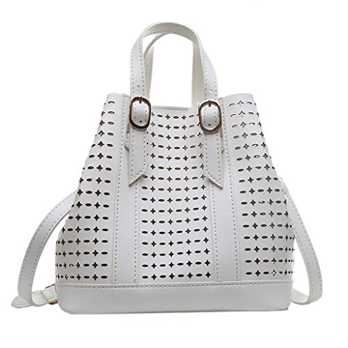 Big Save! Bags 2pcs Set Hollow Pattern Top Handle Handbag Leather Shoulder Bag Cross Body Bag with M...