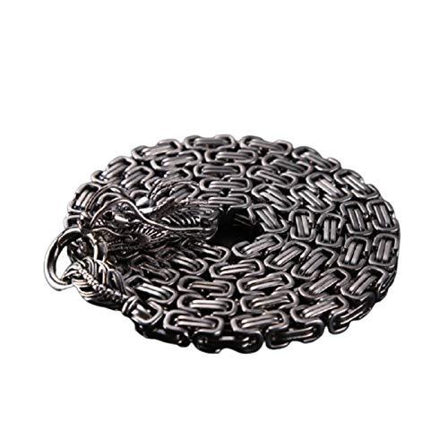 Shuliang Pulsera de acero con diseño de dragón, multifuncional, decorativa, 2 colores opcionales, para hombre, 1 m de largo