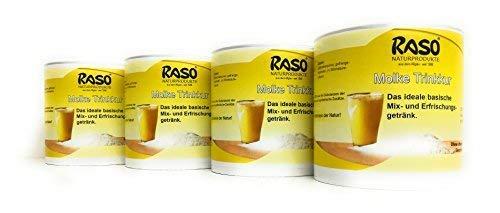 Molke zum Abnehmen 3 +1 GRATIS Appetitzügler - Molkepulver - VERSANDKOSTENFREI 4 x 300g Molkenpulver natur von RASO