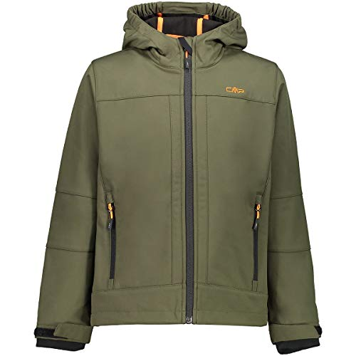 CMP Jungen Softshelljacke mit ClimaProtect-Technologie 7.000mm, Oil Green-Nero, 140