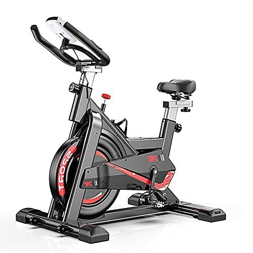 ARUNDO Bicicleta estática, Bicicleta de Spinning para Ciclismo de Interior con Resistencia Ajustable, Bicicletas estáticas para Entrenamiento Cardiovascular en casa, Manillar y Asiento Ajustables