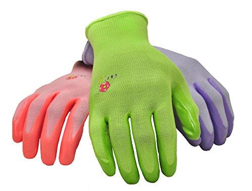 6 PAIRS Women Gardening Gloves with Micro Foam Coating - Garden Gloves Texture Grip - Women's Work Glove - Working Gloves For Weeding, Digging, Raking and Pruning, Medium