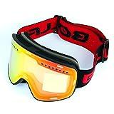 COCKE Gafas De Esquí, con Lente De Protección Antivaho, Antideslumbrante Y UV400, Gafas Esféricas Dobles para Esquiar, Patinaje, Motos De Nieve Y Tablas De Snowboard para Hombre Y Mujer,E