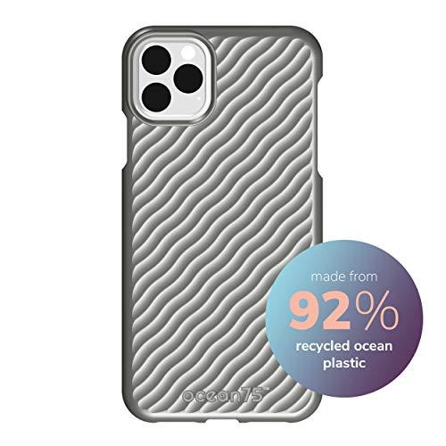 Ocean75 Umweltfreundlich Designed für iPhone 11 Pro Max Hülle, Ozean-inspirierte nachhaltige Handyhülle aus recycelten Fischernetzen - Delphin Grau
