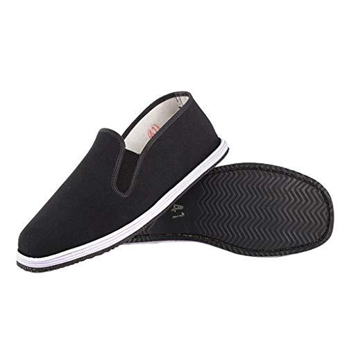 Xu-shoes Semelle Pneu Chaussures en Tissu Noir, Traditions Chinoises Automne Respirant Mocassins de...