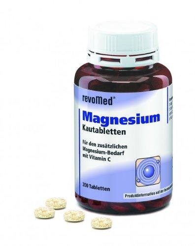 Magnesium Kautabletten (200 Stück) gegen Muskelkrämpfe