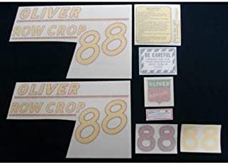 Tractor Decal Set, Oliver 88 Row Crop, Yellow, Vinyl