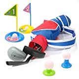 EXERCISE N PLAY Deluxe Happy Kids/Toddler Golf Clubs Set Grow-to-Pro Golfer 15 Piece Set