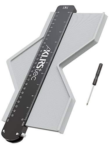 KLRStec Medidor de contorno profesional - Medidor de aguja de alta calidad con bloqueo para transferir perfiles - Medidor de duplikacdor con rango de medición extra grande (73x258mm)