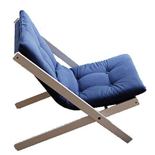 HYY-YY Mini pequeño sofá Japonesa sofá Perezoso de Ocio Balcón Sillón Plegable Silla de salón de divanes (Color: Azul, tamaño: 65 * 89 * 78cm)