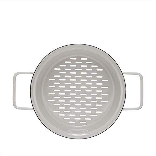 Riess, 2118-211, Dampfgarer für Aromapot Topf 20, Durchmesser 20 cm, LIGHT GREY, AROMAPOTS, Truehomeware, Emaille