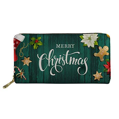 Coloranimal Cartera larga para mujeres y hombres con cremallera de cuero sintético para bolso de mano de mano titular de tarjeta de crédito