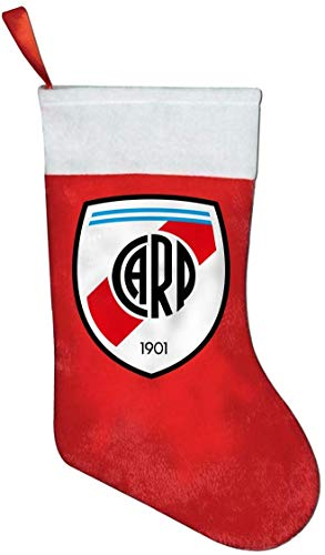 River Plate FC Christmas Stocking Xmas Sock Sack Gift Bag for Tree Decoration Candy Pouch Bag Santa Stocking